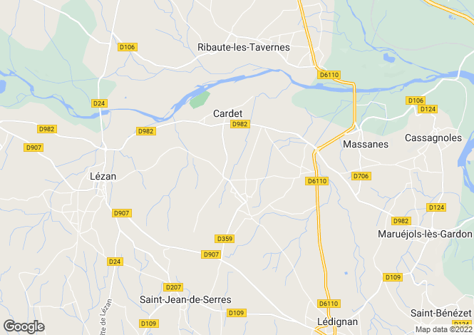 Map for cardet, Gard, France