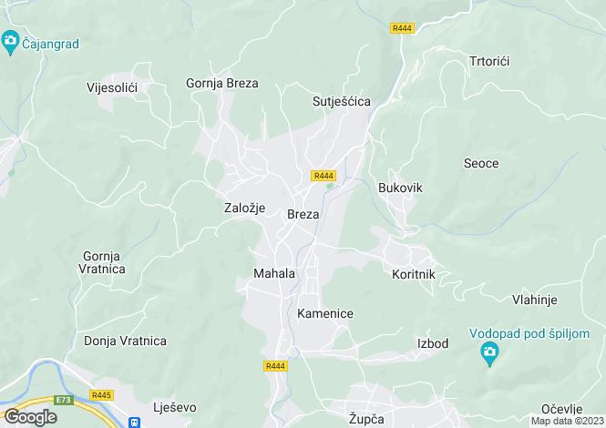 Map for Breza, Federacija Bosna i Hercegovina