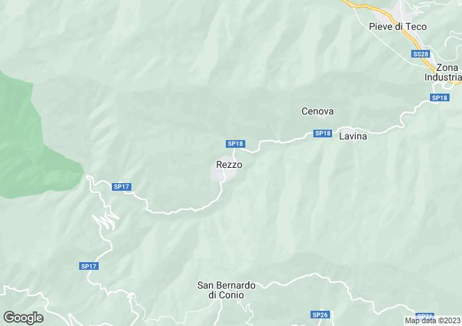 Map for Liguria, Imperia, Rezzo
