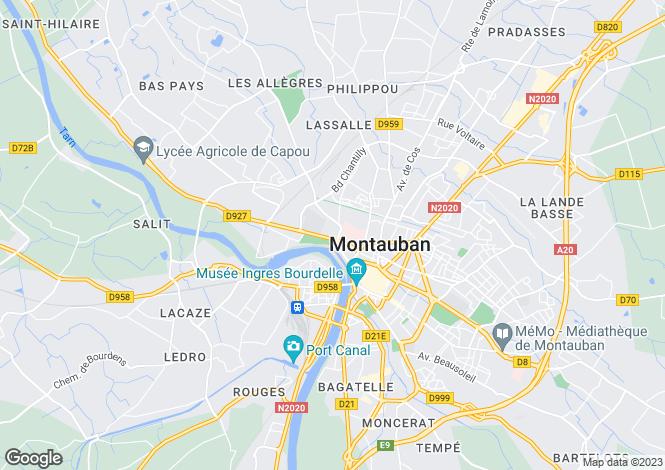 Map for Bourg de Visa, Tarn Et Garonne, Midi Pyrenees