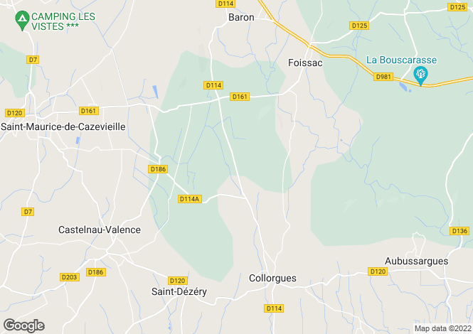 Map for st-denis, Gard, France