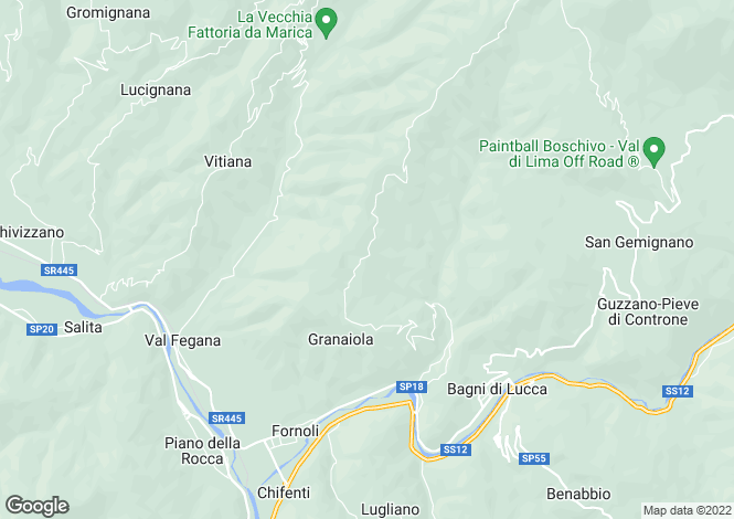 Map for Tuscany, Lucca, Bagni di Lucca