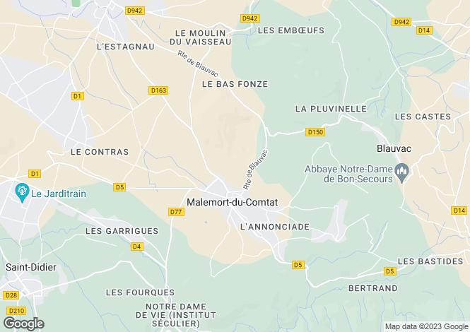 Map for malemort-du-comtat, Vaucluse, France