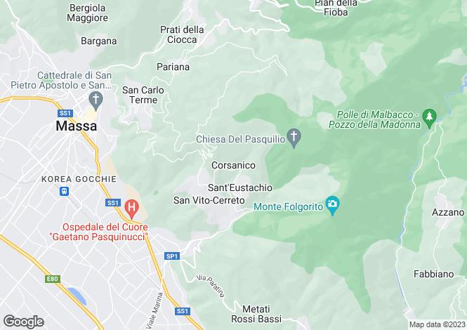 Map for Corsanico, Tuscany, Italy
