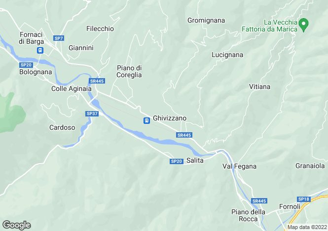 Map for Tuscany, Lucca, Coreglia Antelminelli