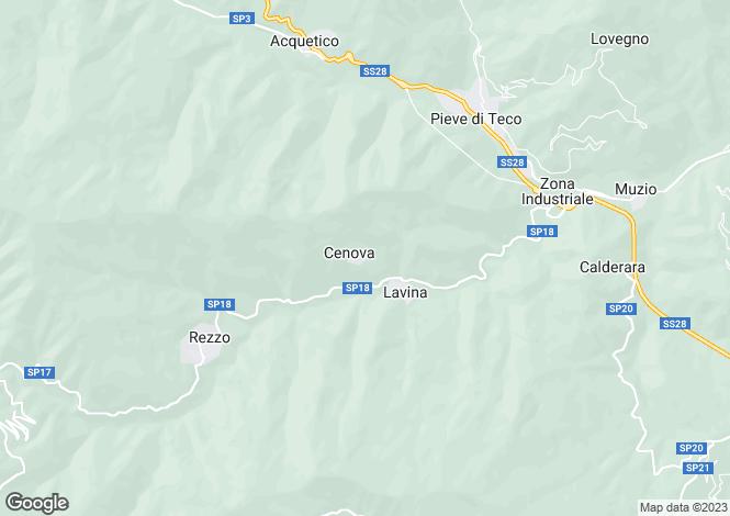 Map for Rezzo, Imperia, Liguria