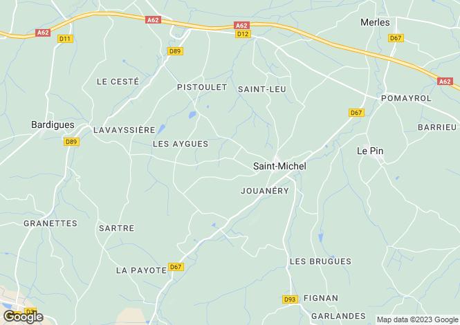 Map for Midi-Pyrenees, Tarn-et-Garonne, Saint-Michel