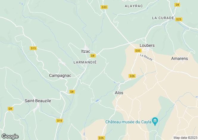 Map for itzac, Tarn, France