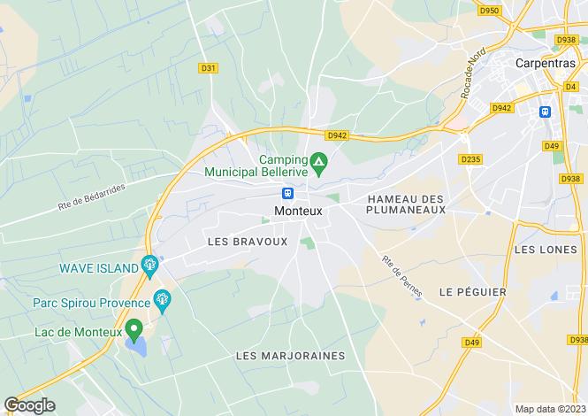 Map for 84170, Monteux, Vaucluse