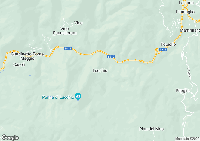 Map for Lucchio, Tuscany, Italy