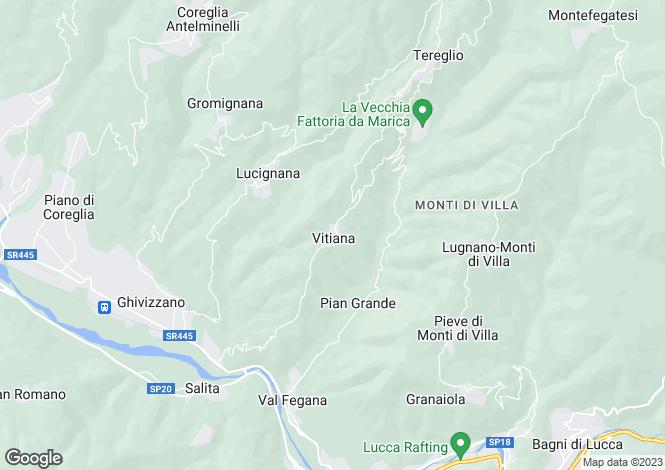 Map for Tuscany, Lucca, Coreglia Antelminelli