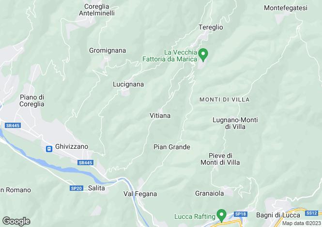 Map for Coreglia Antelminelli, Lucca, Tuscany