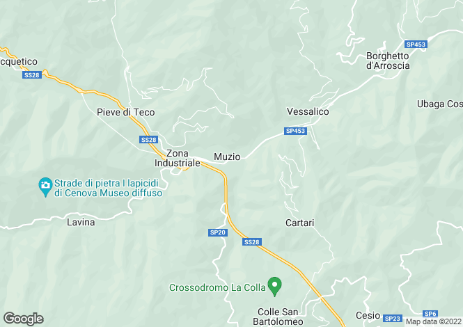 Map for Liguria, Imperia, Pieve di Teco