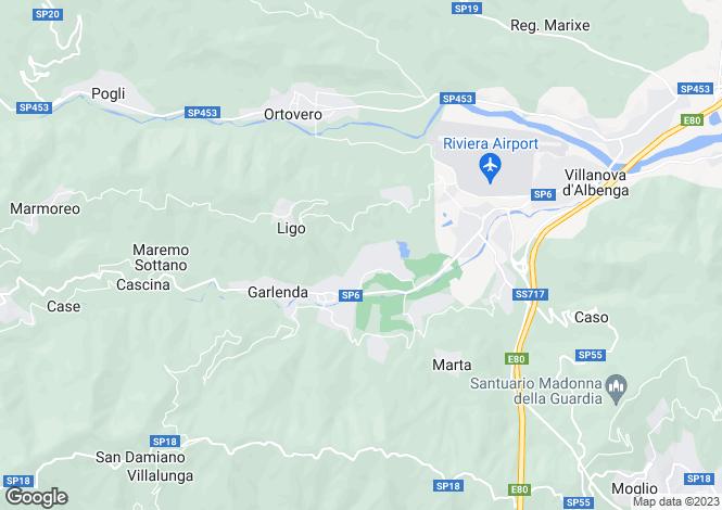 Map for Garlenda, Savona, Liguria