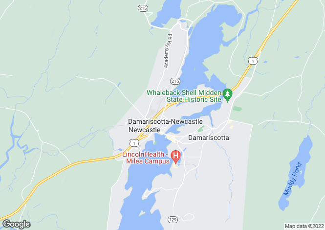 Map for USA - Maine, Lincoln County, Newcastle