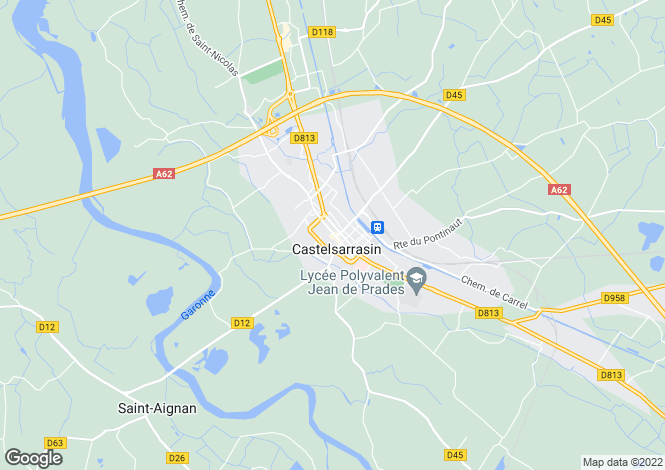 Map for castelsarrasin, Tarn-et-Garonne, France