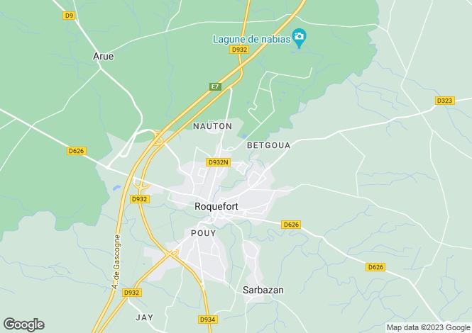 Map for Roquefort, Landes, Aquitaine