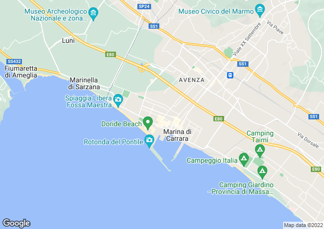 Map for Carrara, Massa-Carrara, Italy