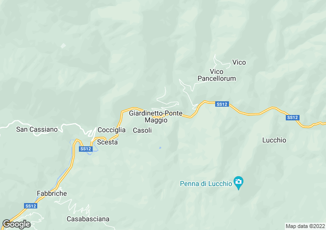 Map for Bagni di Lucca, Lucca, Tuscany