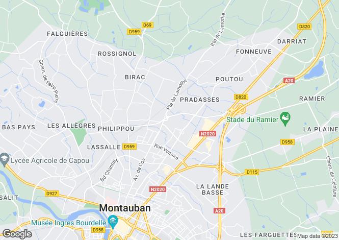 Map for Restored Maison Bourgeoise, Montricoux, Tarn Et Garonne