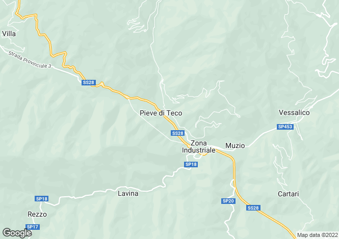Map for Pieve di Teco, Imperia, Liguria
