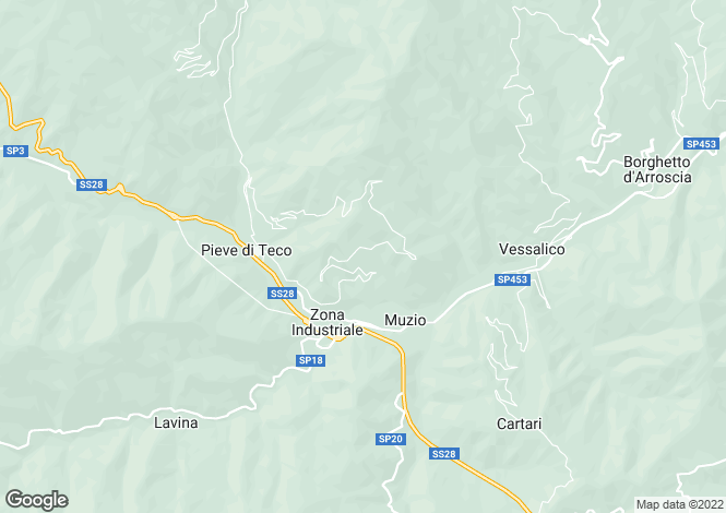 Map for Pieve di Teco, Imperia, Liguria