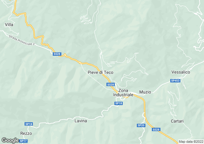 Map for Liguria, Imperia, Pieve di Teco