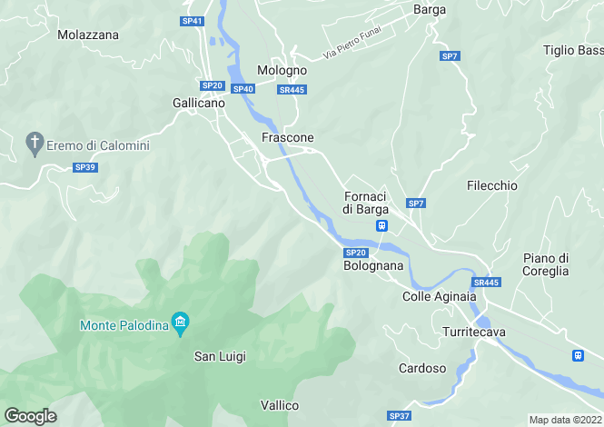 Map for Tuscany, Lucca, Gallicano