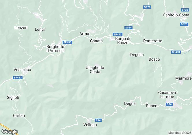 Map for Liguria, Imperia, Borghetto d`Arroscia
