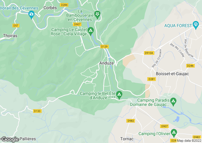 Map for anduze, Gard, France
