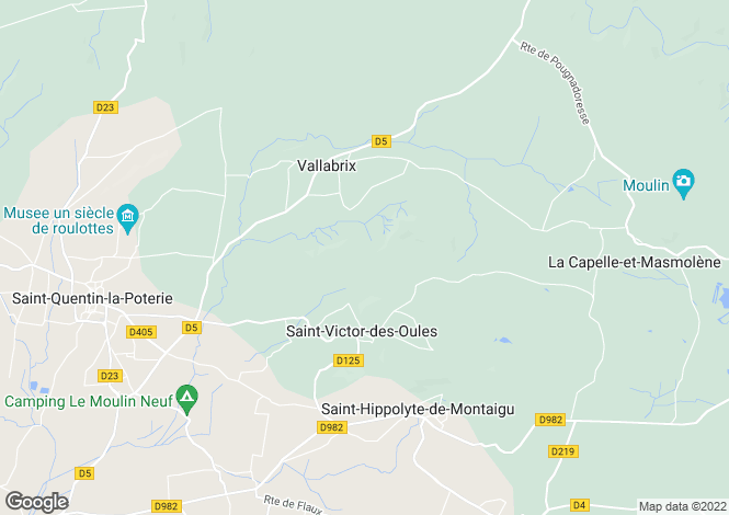 Map for Languedoc-Roussillon, Gard, St-Victor-des-Oules