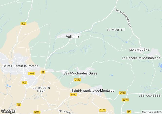 Map for st-victor-des-oules, Gard, France