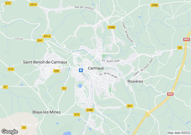 Map for Secteur: Carmaux, Tarn