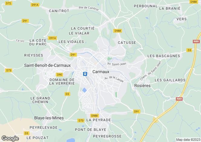 Map for Secteur: Monesties, Tarn