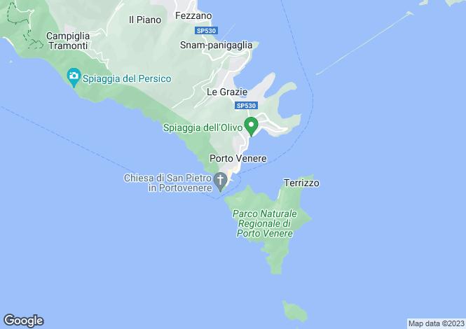 Map for Portovenere, La Spezia, Liguria