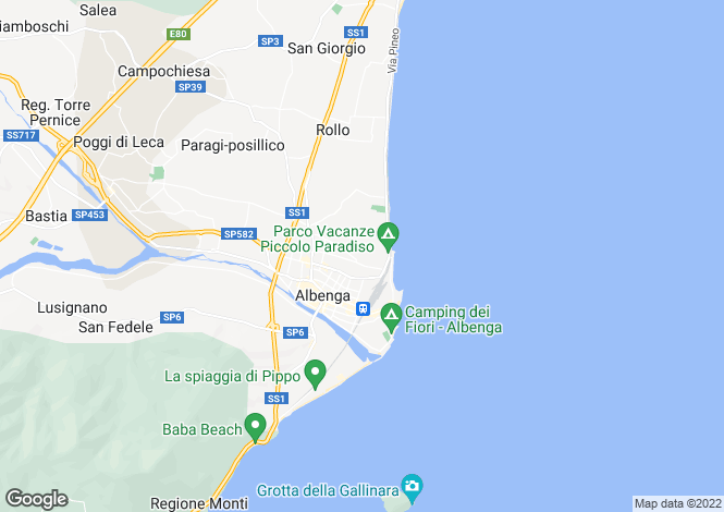 Map for Albenga,Italy