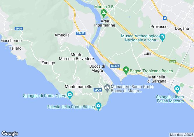 Map for Ameglia, La Spezia, Italy