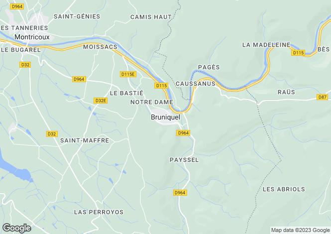 Map for Secteur: Montauban, Tarn et Garonne