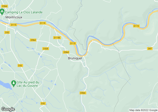 Map for BRUNIQUEL, 82800, France
