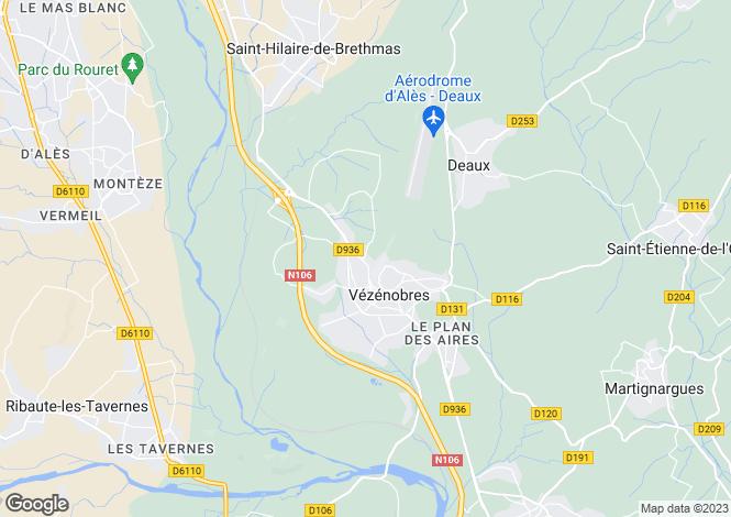 Map for VEZENOBRES, Nîmes, Avignon, Uzès Area, Provence - Var,