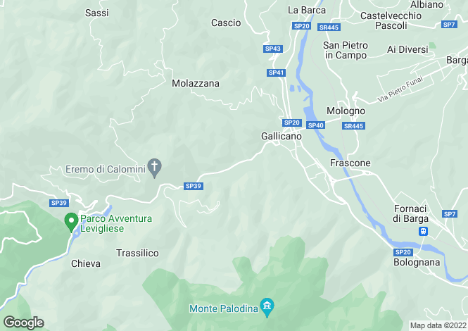 Map for Gallicano, Toscana, 046015, Italy