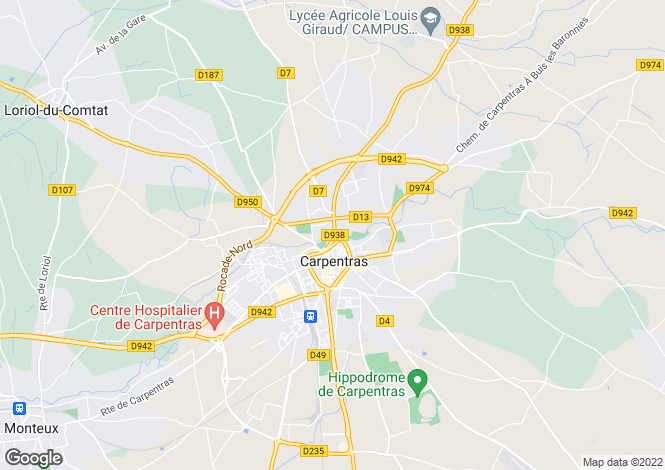 Map for Carpentras, 84200, France
