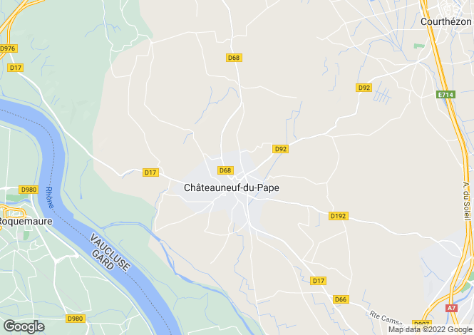 Map for chateauneuf-du-pape, Vaucluse, France