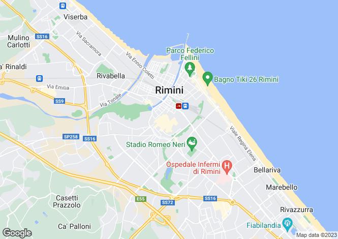 Map for Rimini,Italy