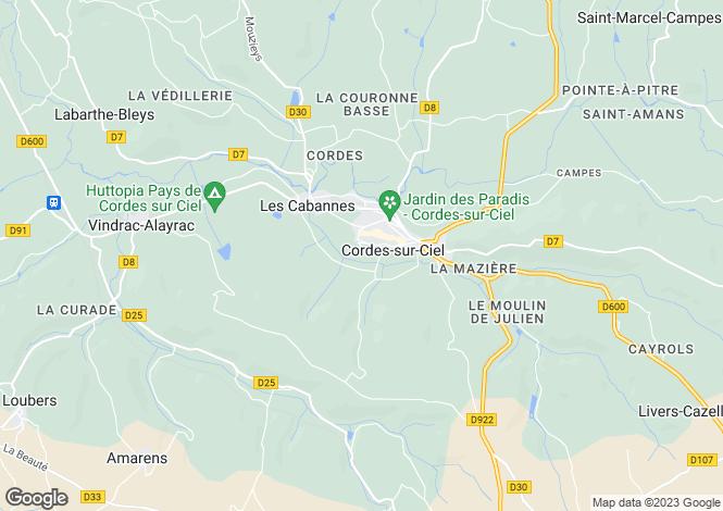 Map for Cordes-Sur-Ciel, Albi