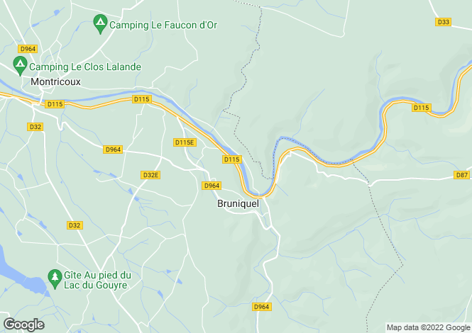 Map for Countryside Estate, Bruniquel, Tarn Et Garonne