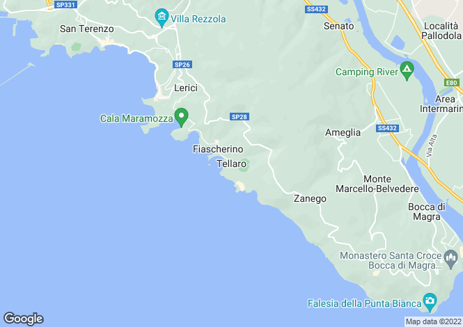 Map for Tellaro, Liguria, Italy