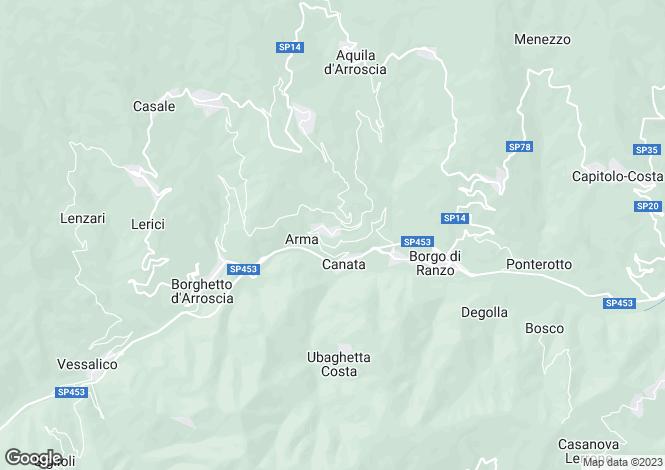 Map for Borghetto d`Arroscia, Imperia, Liguria