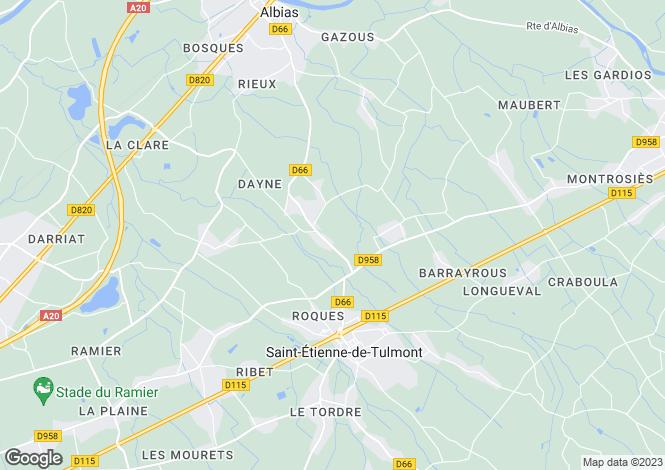Map for Midi-Pyrenees, Tarn-et-Garonne, Saint-Etienne-de-Tulmont
