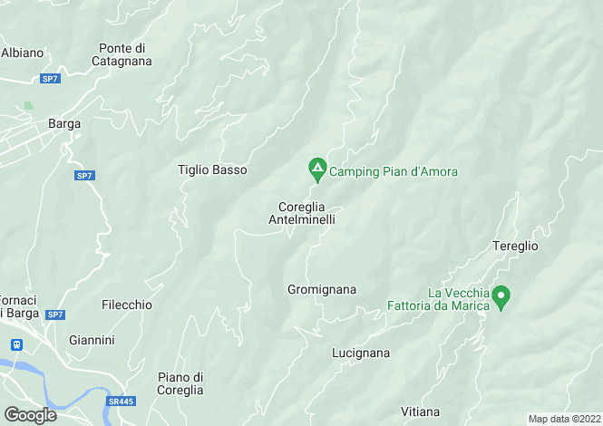 Map for Coreglia Antelminelli, Tuscany, Italy